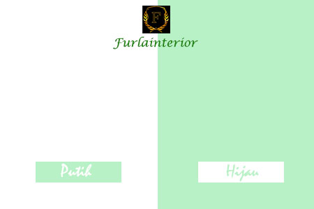 kombinasi warna cat putih dan hijau